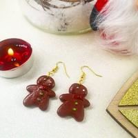Boucles d'oreilles : Bonhomme pain d'épice de Noel
