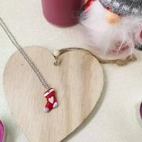 Collier : Chaussette de Noel