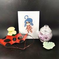 plaque en métal : ladybug (moyen)