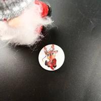 Badge holographique : Renne de Noël