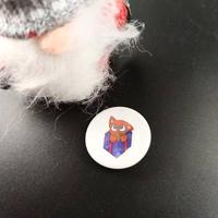 Badge holographique : Chat de Noël