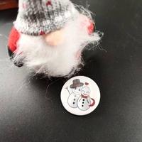 Badge holographique : Bonhomme de Neige
