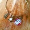 Bracelet cabochon : maman je t'aime
