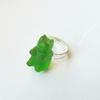Bague : Ourson vert