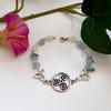 Bracelet Celtique : Awena (Aigue-Marine et Jade)