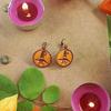 Boucles d'oreilles : Chouette d'Halloween