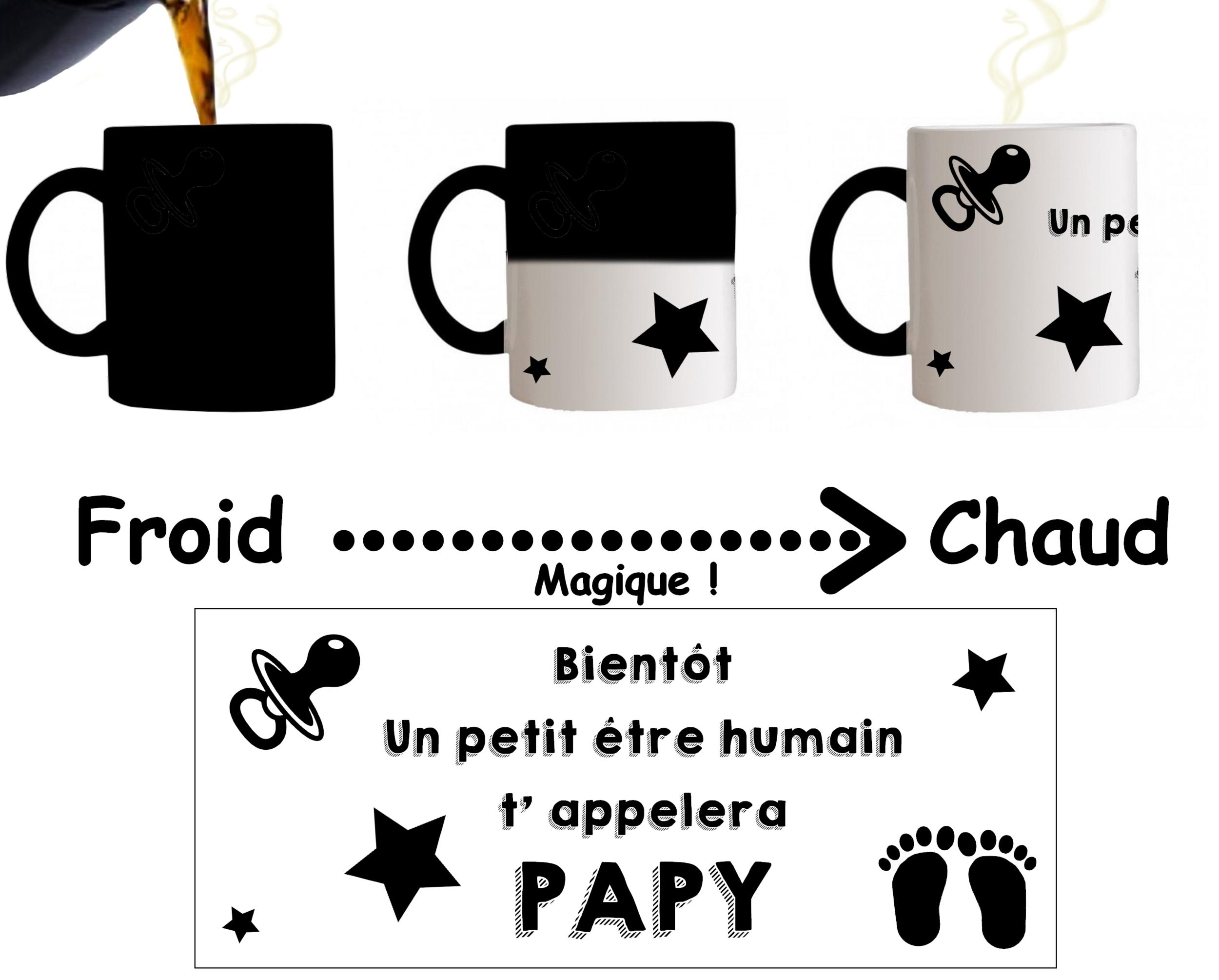 mug tasse magique bient t un petit tre humain t 39 appelera. Black Bedroom Furniture Sets. Home Design Ideas