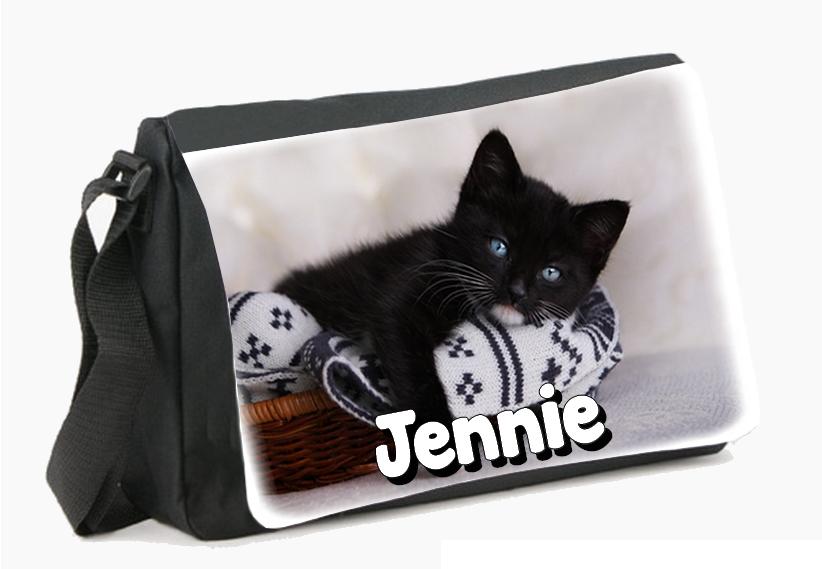 Sac cartable à roulettes Chat chaton personnalisé avec prénom