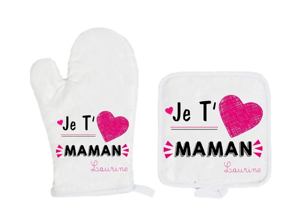 gant de cuisine personnalisé maman