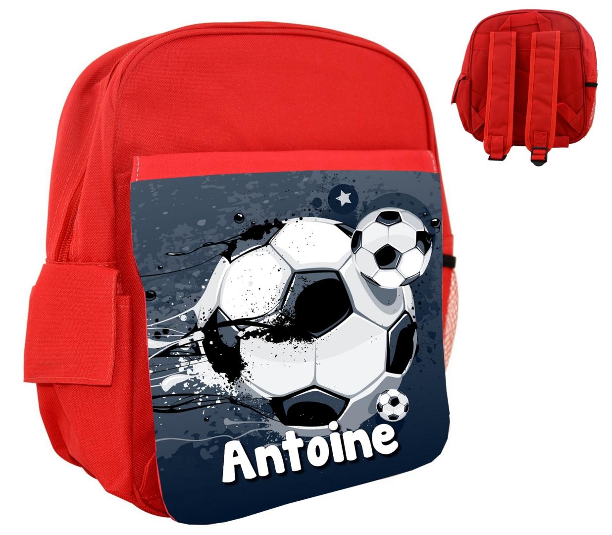 sac à dos enfant football personnalisé prénom