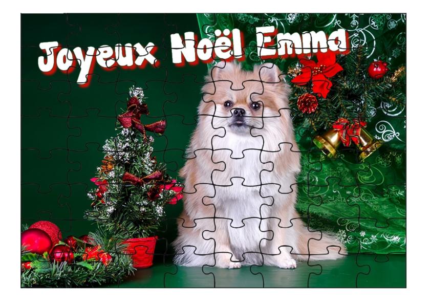 Joyeux Noël du chien personnalisé chien Nounou du Chien de Noël