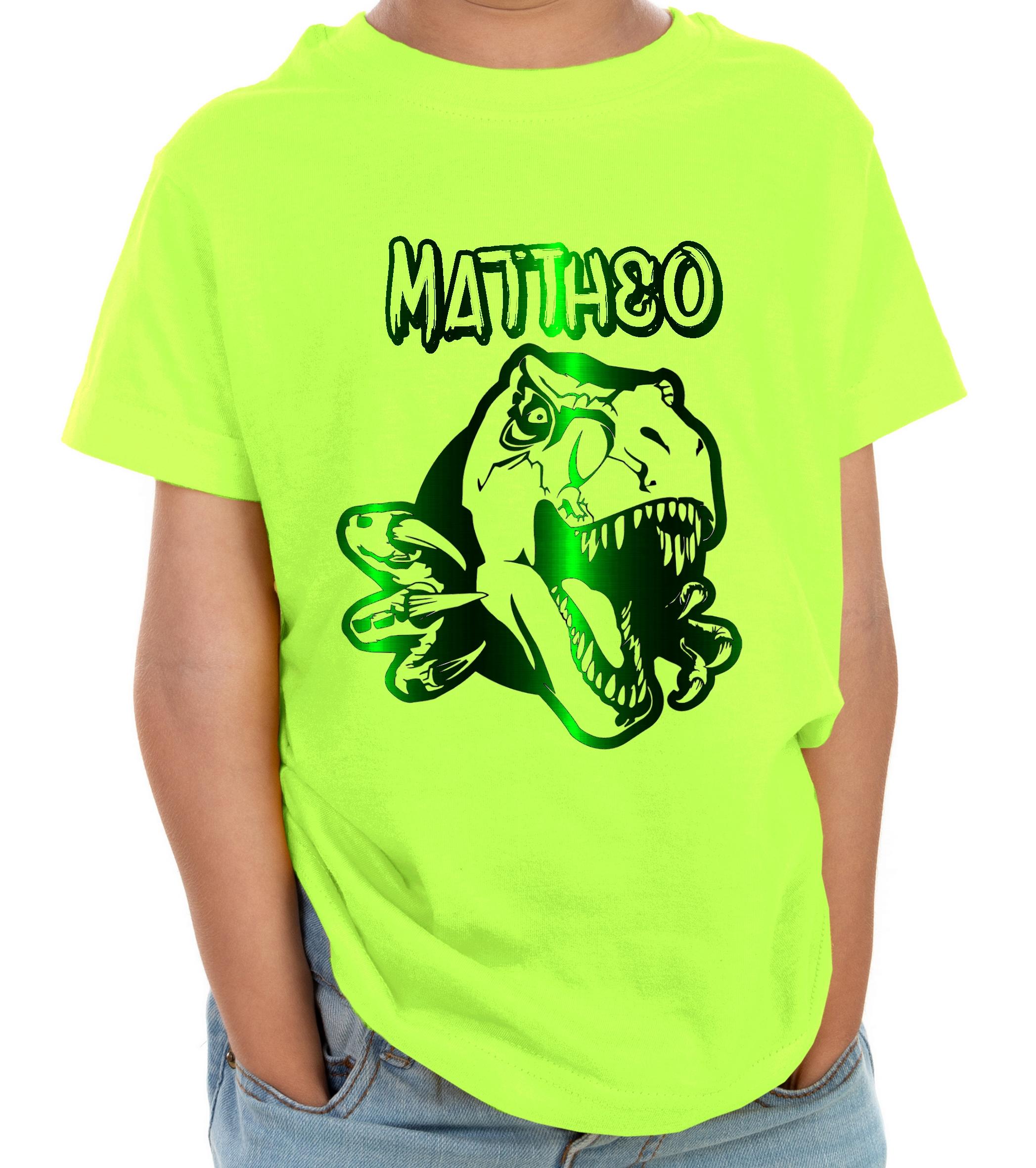 T-shirt Bébé Tracteur Vert avec Prénom Personnalisé