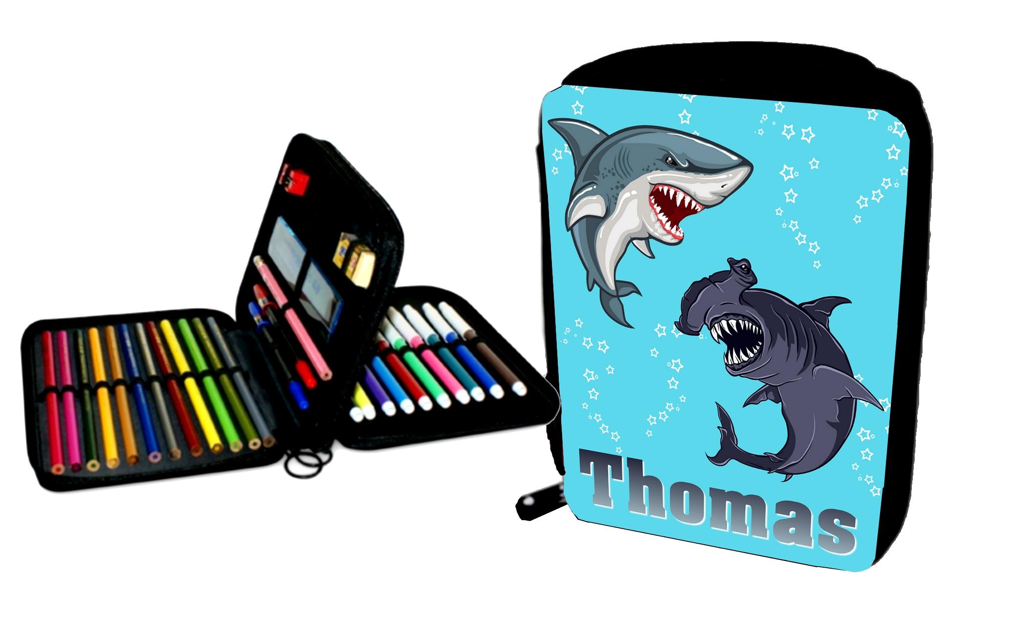 trousse requin personnalisé