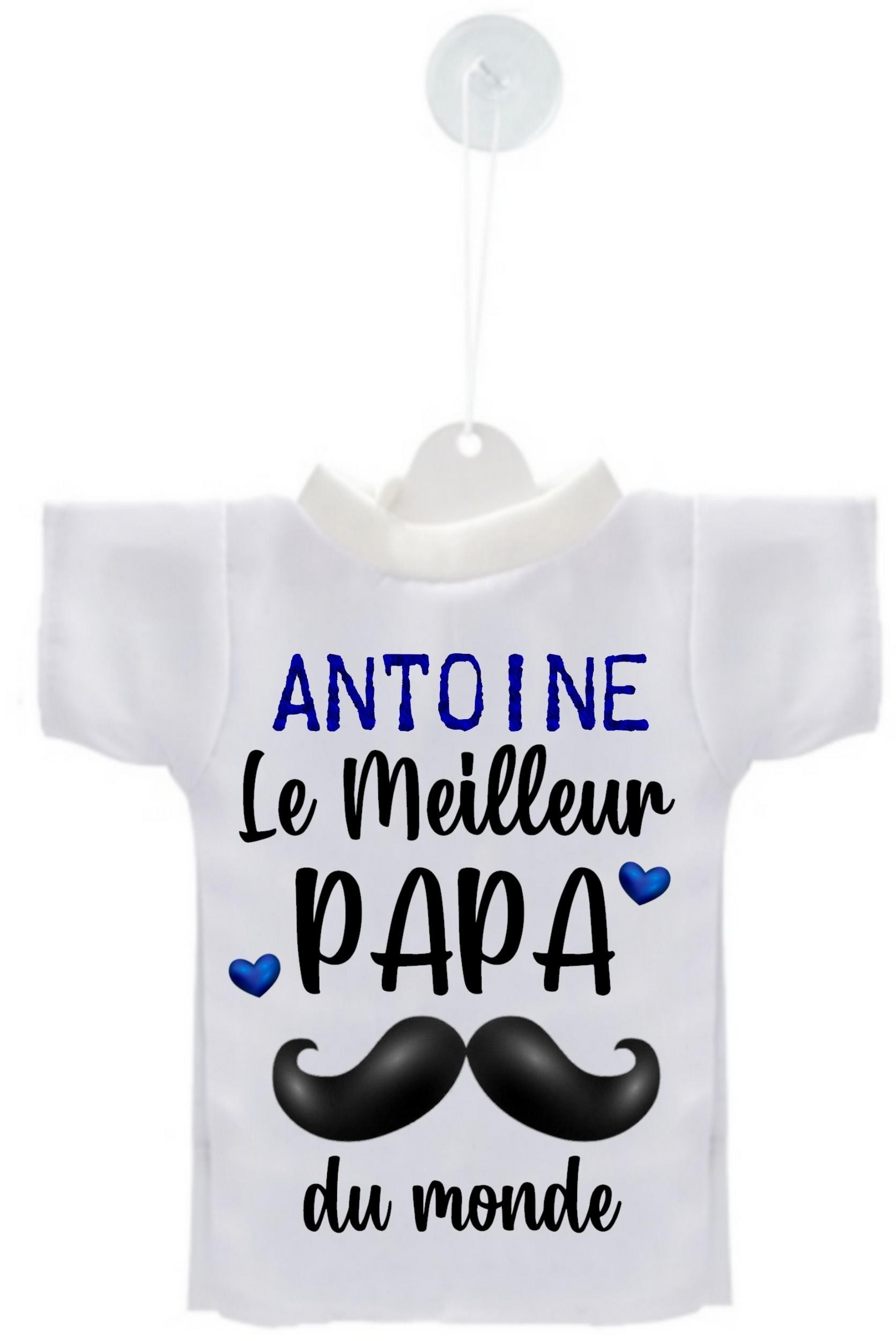 Mini tee shirt voiture Meilleur PAPA personnalisé avec prénom