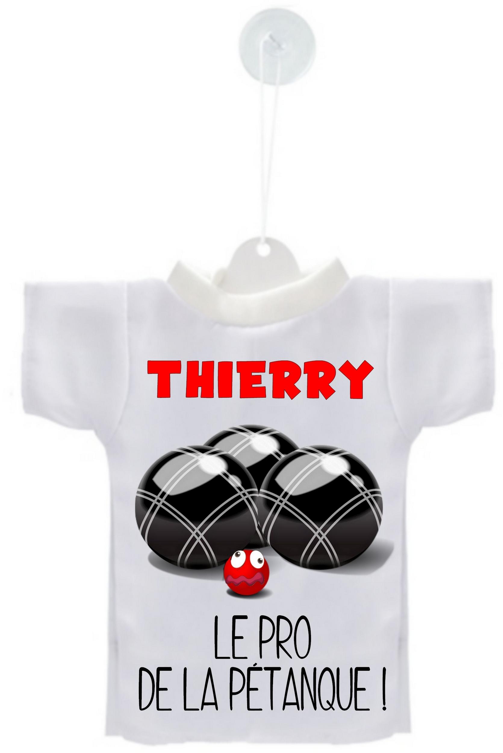 Mini tee shirt voiture Pro de la pétanque personnalisé avec prénom