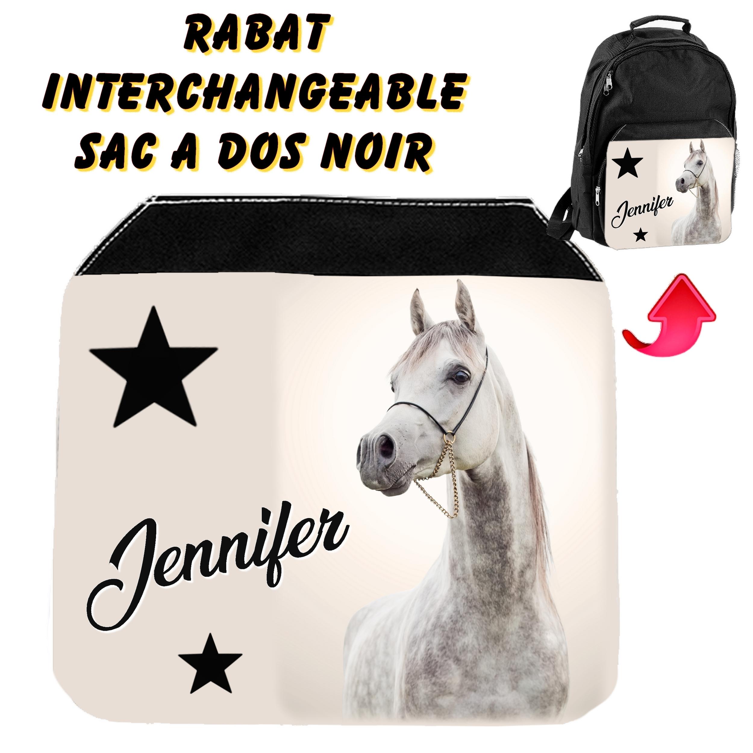 Sac de sport XXL Cheval Equitation personnalisé avec prénom