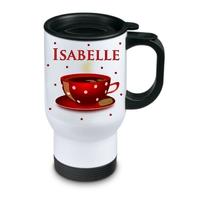 Tasse isotherme Café personnalisée avec prénom