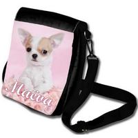 Sacoche bandoulière Chien Chihuahua personnalisée avec prénom