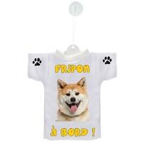 Mini tee shirt voiture Chien à Bord Akita inu personnalisé