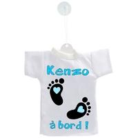 Mini tee shirt ventouse Bébé à bord garçon personnalisé avec prénom