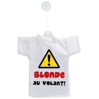 Mini tee shirt voiture Humour Blonde au volant