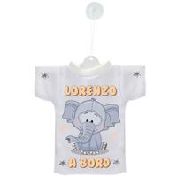 Mini tee shirt voiture Bébé à bord Eléphant personnalisé avec prénom