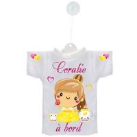 Mini tee shirt voiture Bébé à bord Princesse personnalisé avec prénom