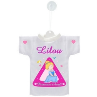 Mini tee shirt ventouse Princesse à bord personnalisé avec prénom
