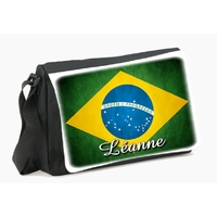 Sac à bandoulière Brésil personnalisé avec prénom