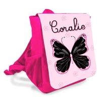 Sac à dos Cartable enfant Papillon personnalisé avec prenom