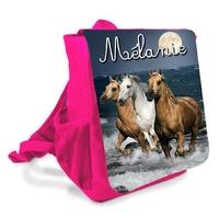 Sac à dos enfant Cheval chevaux personnalisé avec prenom