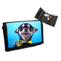 Portefeuille chien Chihuahua personnalisé avec prénom