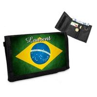 Portefeuille Brésil personnalisé avec prénom