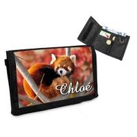 Portefeuille Panda roux personnalisé avec prénom