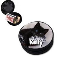 Porte monnaie chat chaton personnalisé avec prénom