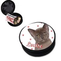 Porte monnaie Adorable chaton personnalisé avec prénom
