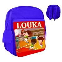 Sac à dos rose/bleu/rouge enfant Basketball personnalisé avec le prénom de votre choix