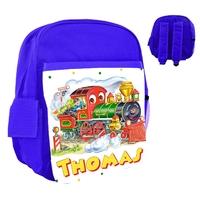 Sac à dos rose/bleu/rouge enfant Locomotive train personnalisé avec le prénom de votre choix