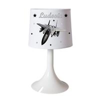 Lampe de chevet ou de bureau Avion personnalisée avec prénom
