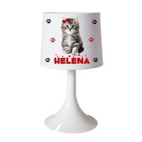 Lampe de chevet ou de bureau Chat Chaton personnalisée avec prénom