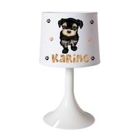 Lampe de chevet ou de bureau Chien Chiot personnalisée avec prénom