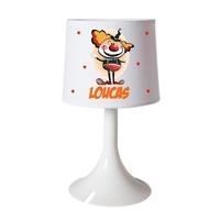 Lampe de chevet ou de bureau Clown personnalisée avec prénom