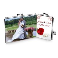 Cadre photo double Mariage personnalisé avec votre photo et votre texte