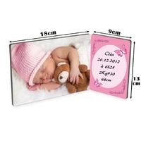 Cadre photo double Bébé fille personnalisé avec votre photo et votre texte