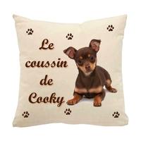 Coussin pour chien Pinscher personnalisé avec le nom de votre animal