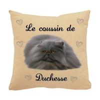 Coussin pour chat Persan personnalisé avec le nom de votre animal
