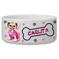 Gamelle pour chien personnalisée avec le nom de votre animal