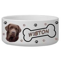 Gamelle pour chien Labrador personnalisée avec le nom de votre animal