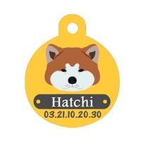Médaille pour chien Akita inu personnalisée avec nom, numéro de téléphone