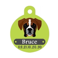 Médaille pour chien Boxer personnalisée avec nom, numéro de téléphone